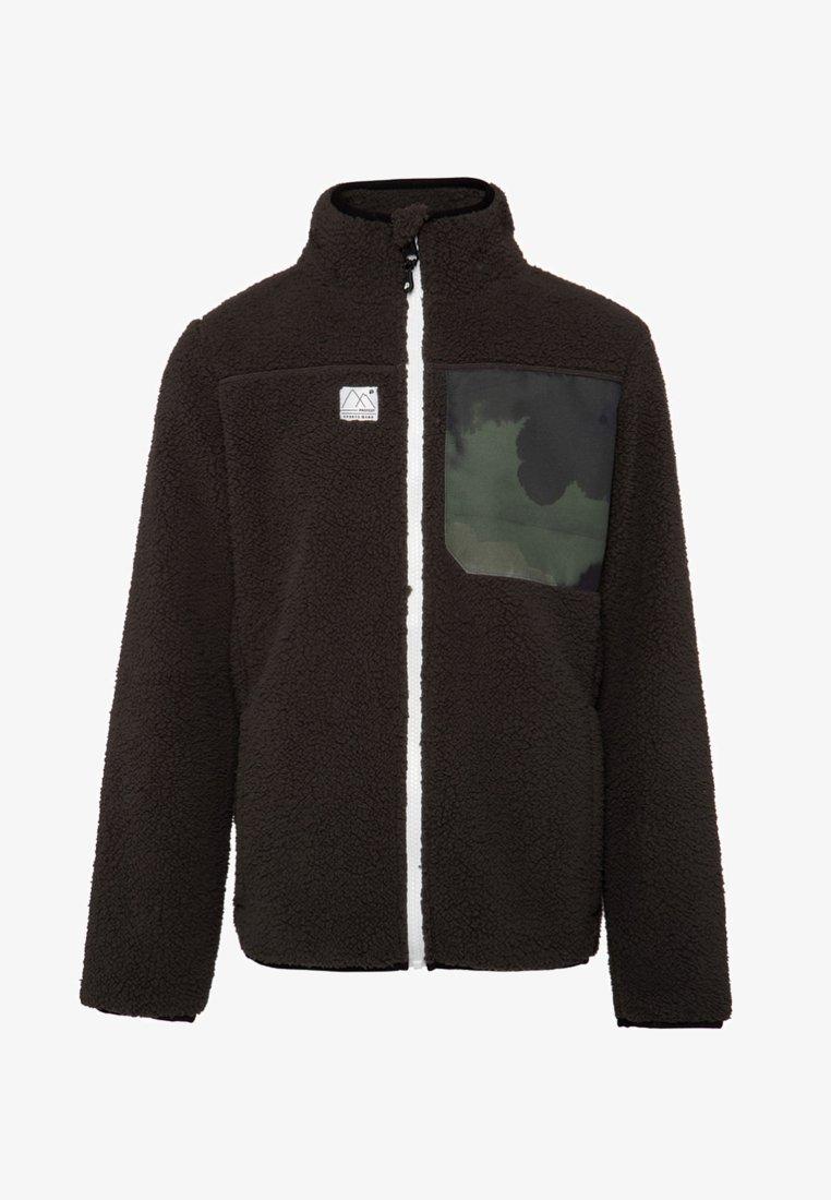 Protest - Fleece jacket - dark green/white