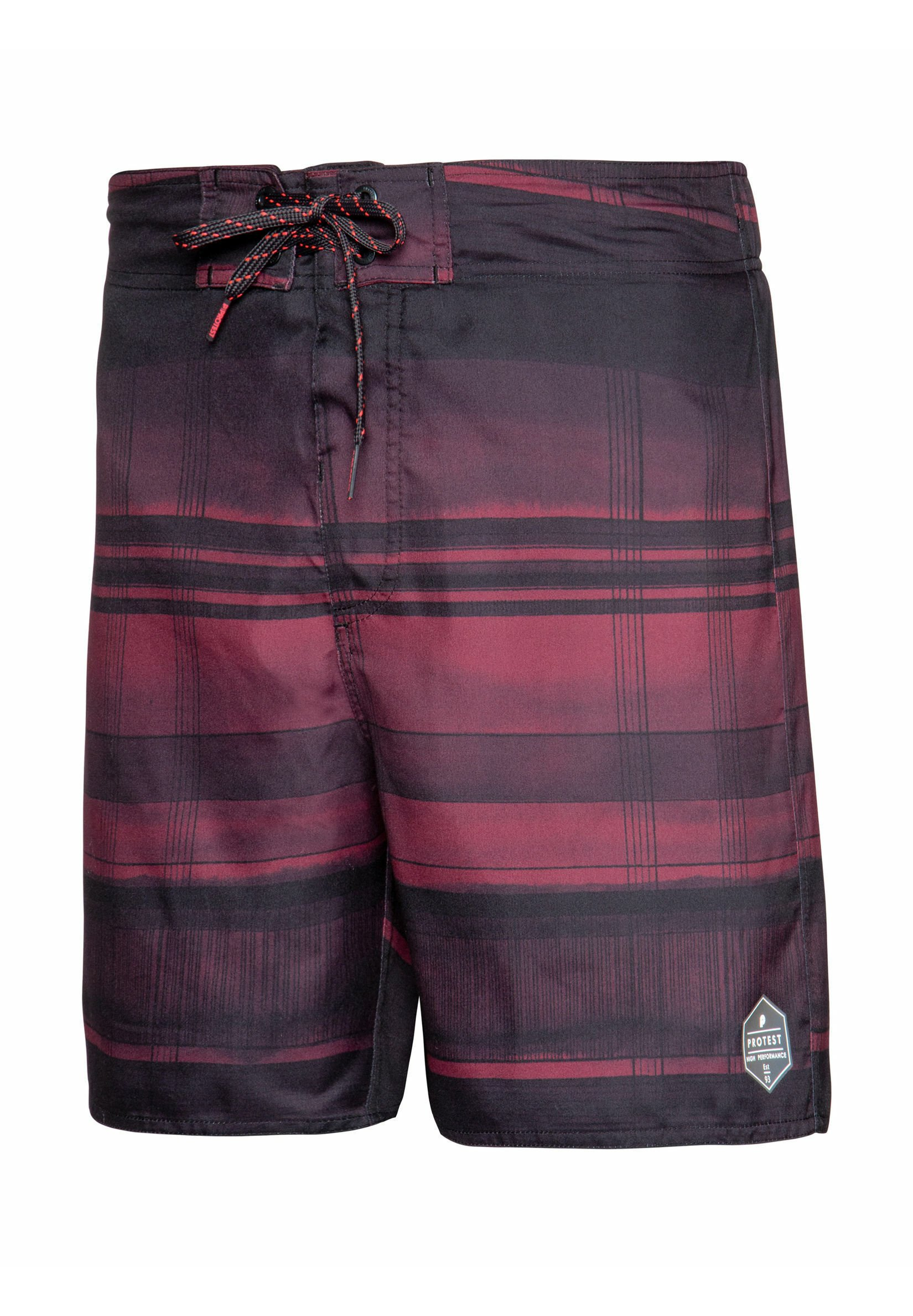 Protest Rainhill - Zwemshorts Dark Cherry