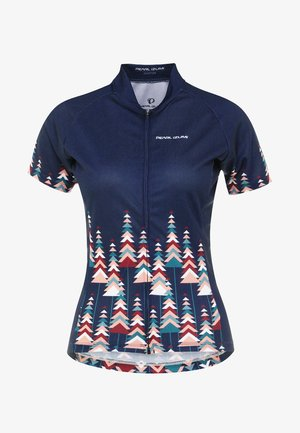 T-Shirt print - pine navy/teal/peach/beet