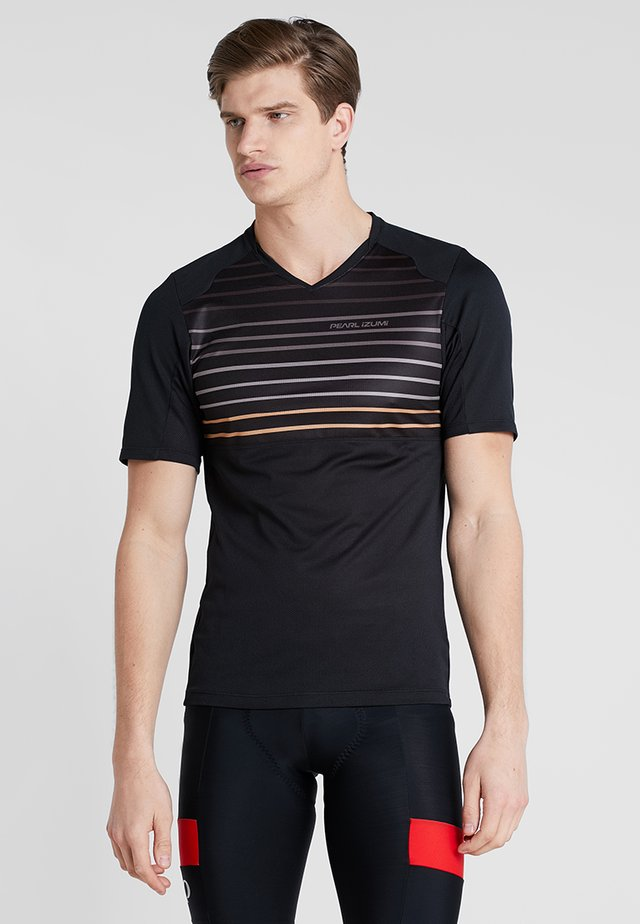 LAUNCH - Print T-shirt - black/berm brown slope