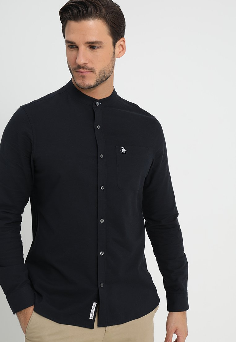 Original Penguin - COLLARLESS OXFORD - Skjorter - dark sapphire