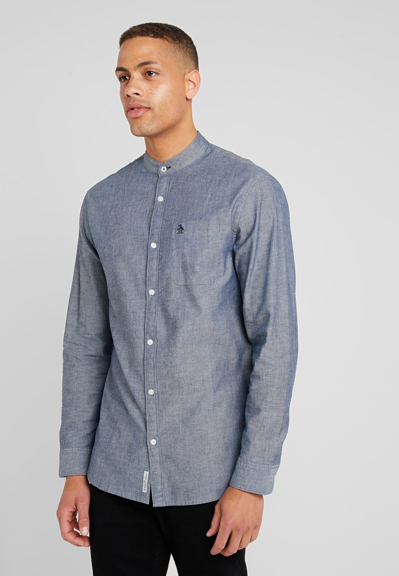 Original Penguin - CHAMBRAY BANDED COLLAR  - Shirt - dark denim