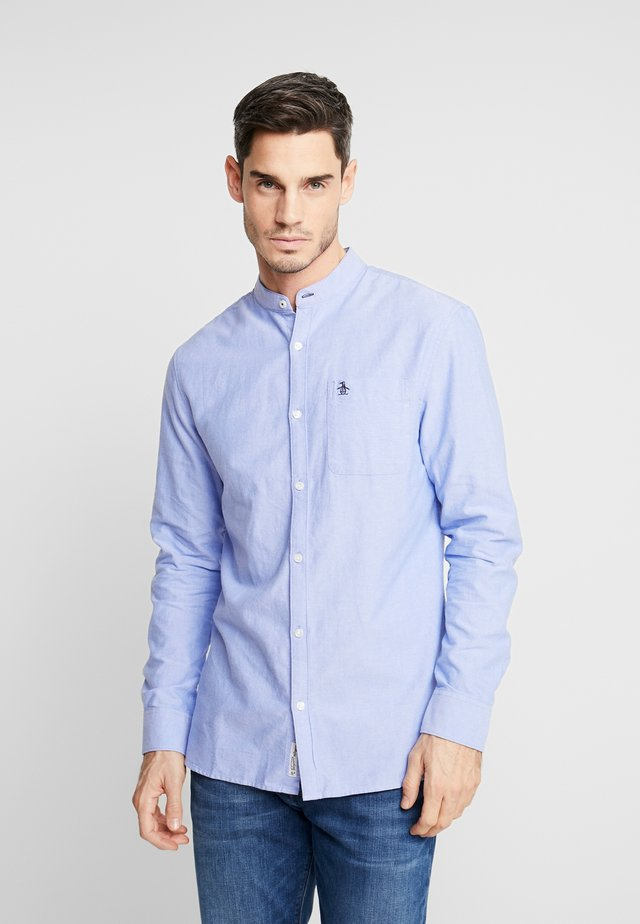 COLLARLESS OXFORD SHIRT - Camicia - amparo blue