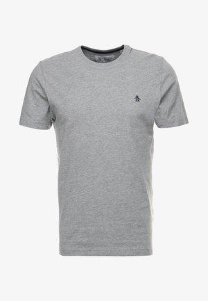 EMBROIDRED LOGO TEE - T-shirt basique - rain heather