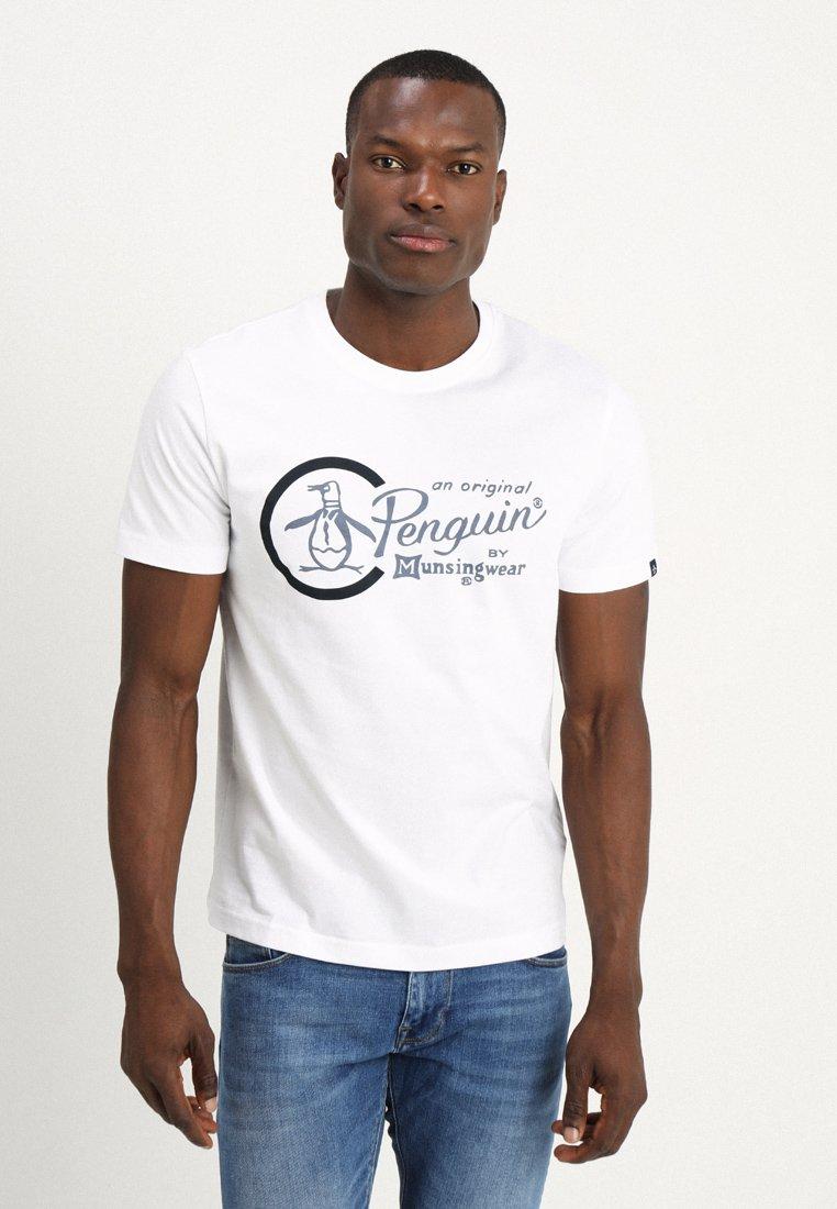 Original Penguin - COMBO LOGO TEE - Camiseta estampada - bright white