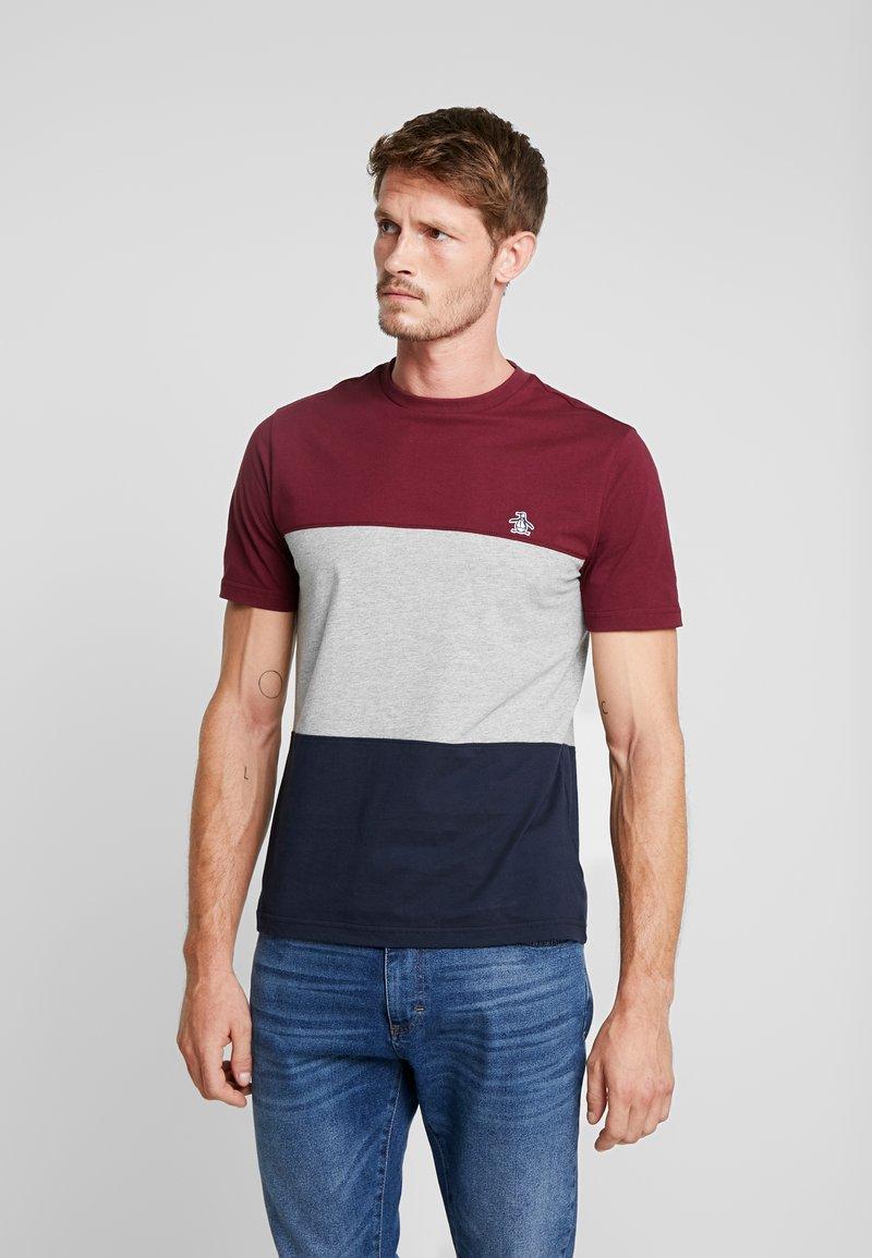 Original Penguin - COLOURBLOCK TEE - Camiseta estampada - tawny port