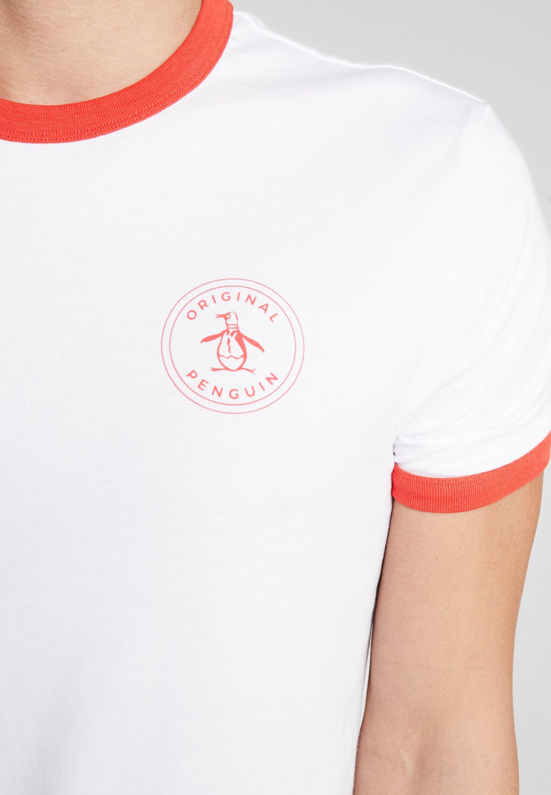 Original Penguin RINGER STAMP LOGO TEE - T-shirts med print - bright white