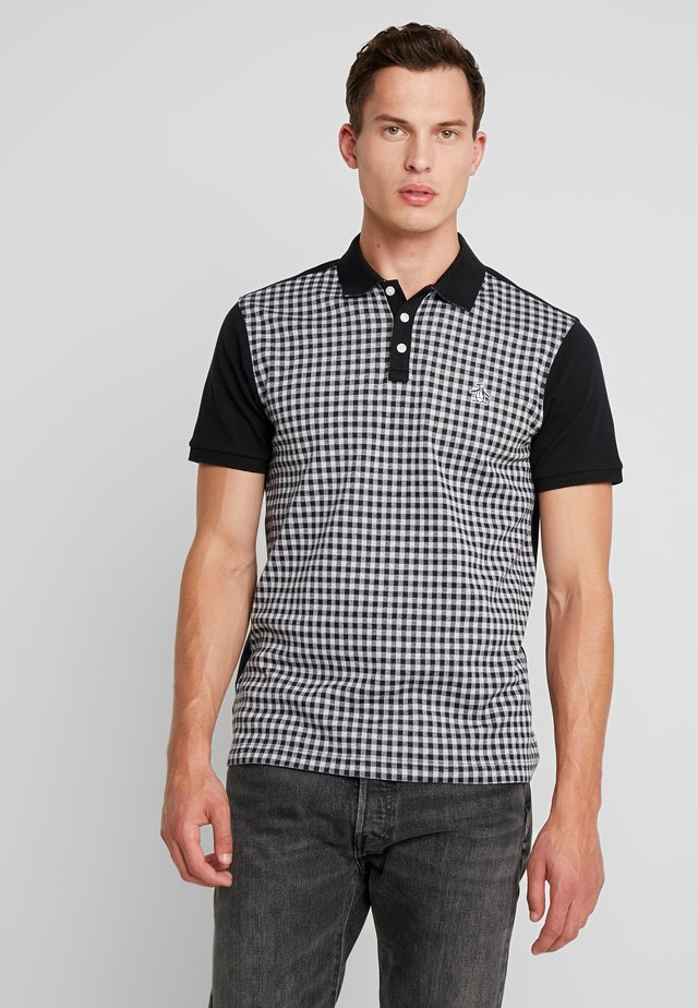 GINGHAM JACQUARD - Piké - true black