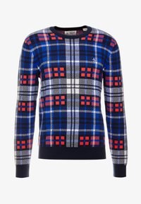 Original Penguin - PLAID CREW NECK  - Svetr - rococco red - 3