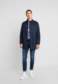 Original Penguin - PLAID CREW NECK  - Svetr - rococco red - 1