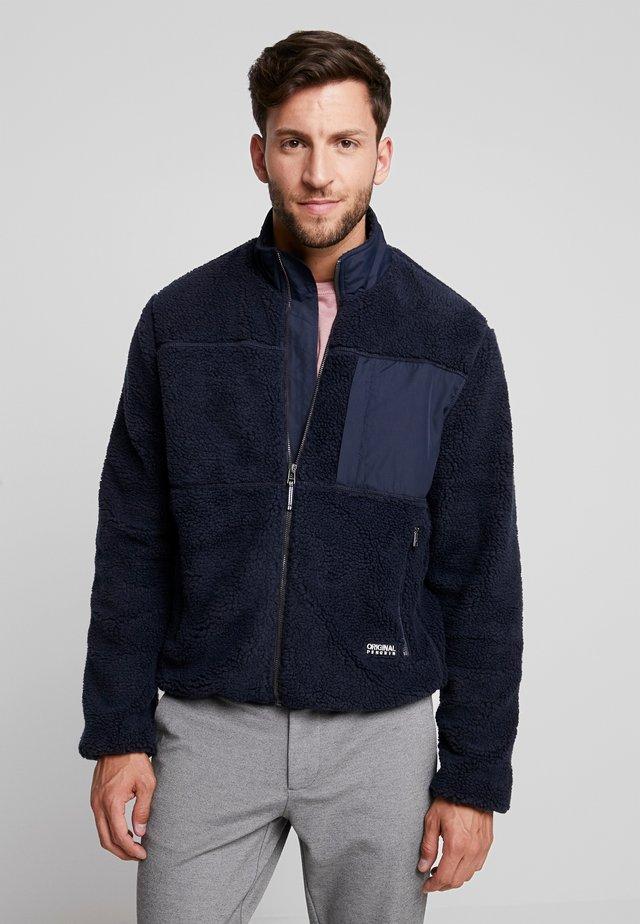 FULL ZIP SHERPA JACKET - Summer jacket - dark sapphire