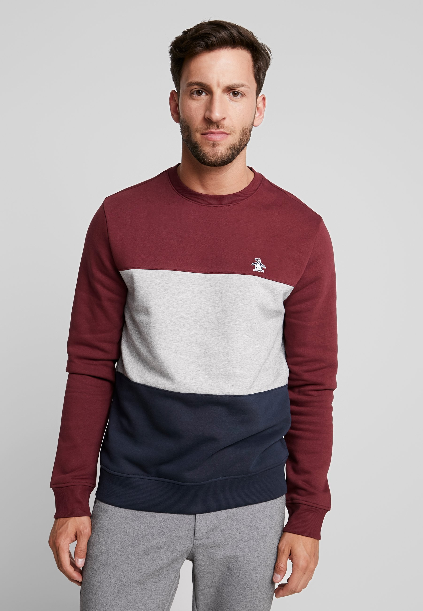 Colorblock Penguin CrewSweatshirt Original Port Tawny MSzUpqV