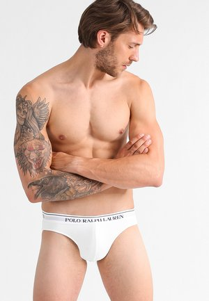 LOW RISE BRIEFS 3 PACK - Braguitas - white/heather/black