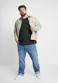 Polo Ralph Lauren Big & Tall - Pitkähihainen paita - black marl heather - 1