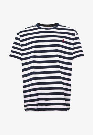 Print T-shirt - french navy/white