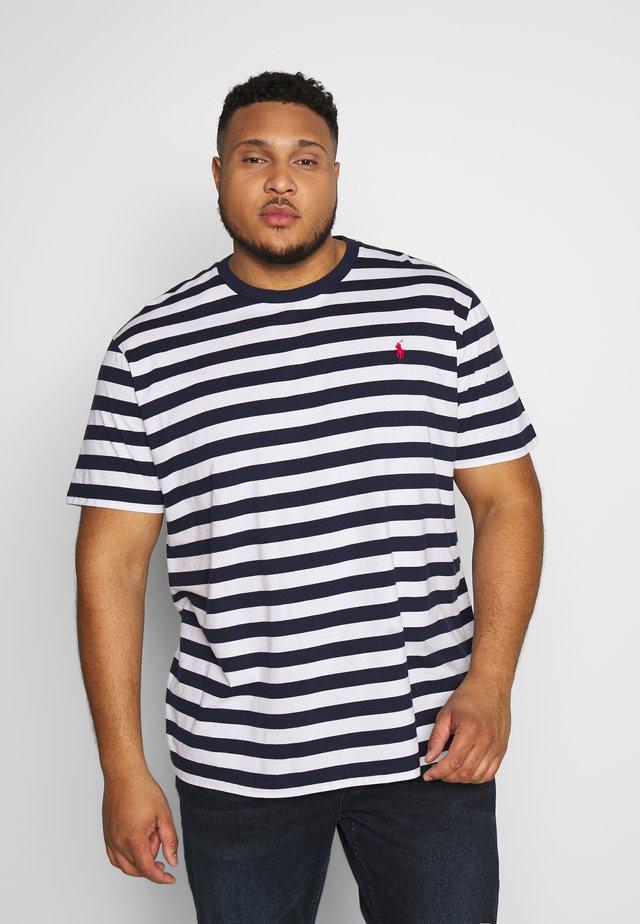 T-shirt med print - french navy/white