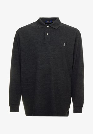 BASIC - Koszulka polo - black marl heather