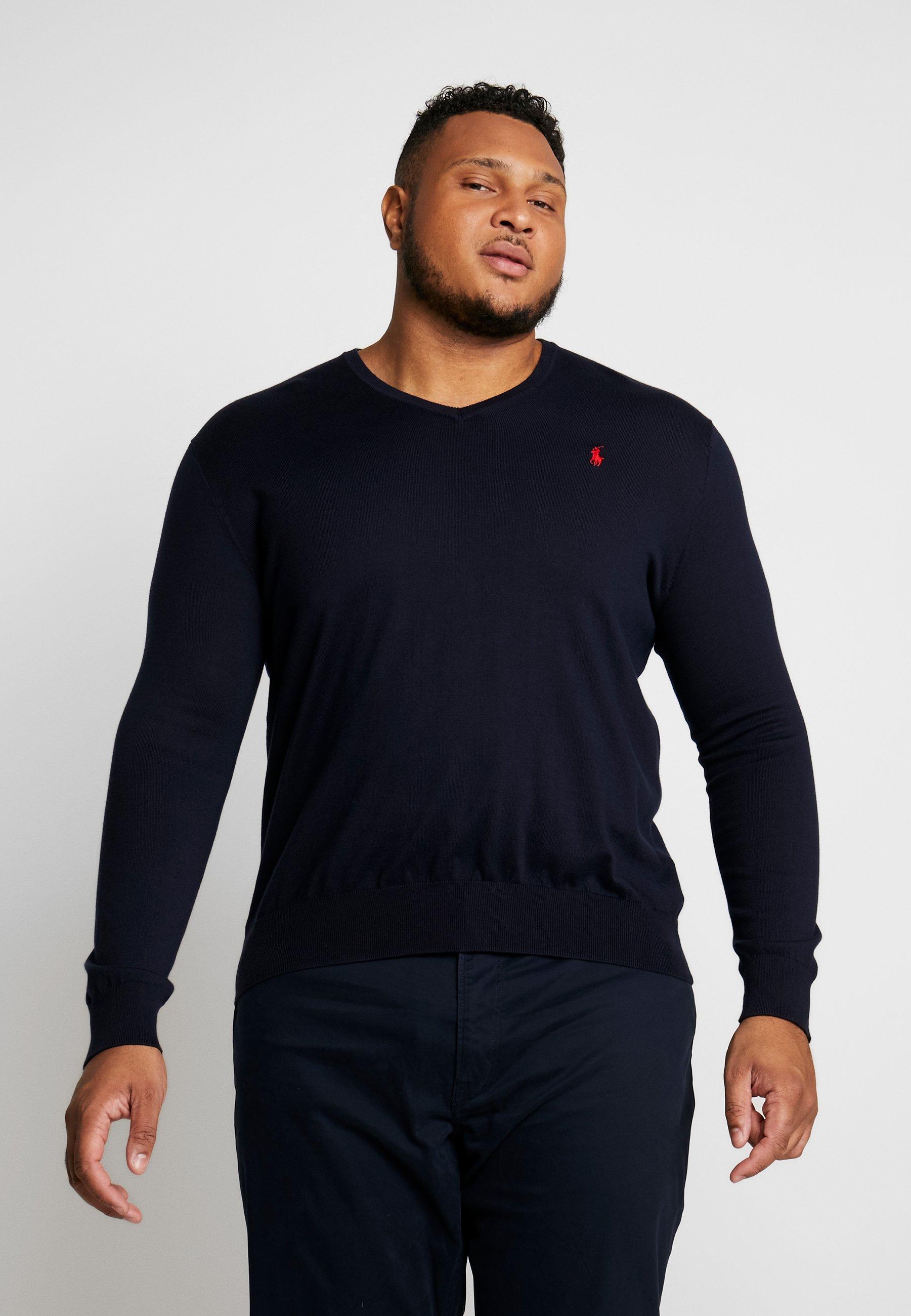 Polo Ralph Lauren Big & Tall PIMA TIPPING - Sweter - hunter navy