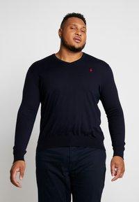 Polo Ralph Lauren Big & Tall - PIMA TIPPING - Sweter - hunter navy - 0