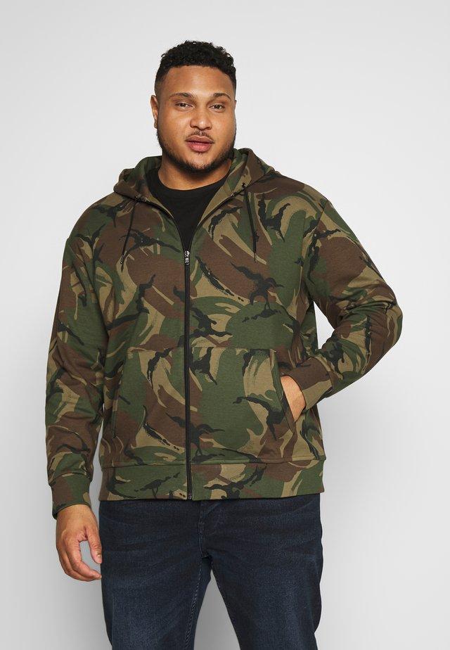 DOUBLE TECH - Zip-up hoodie - british elmwood
