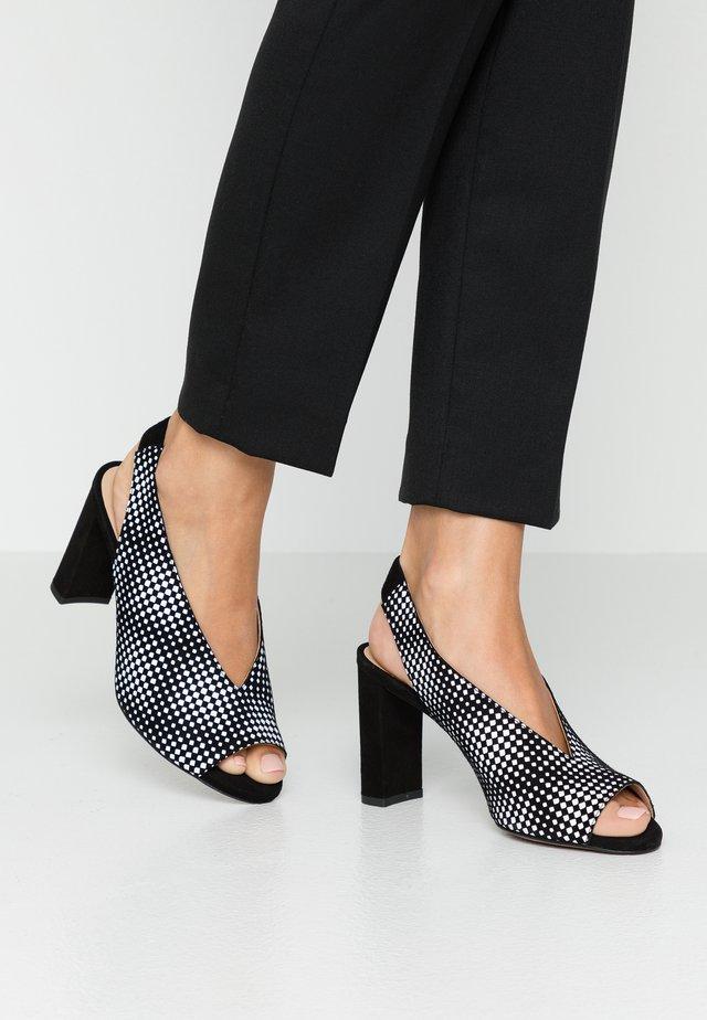 Peeptoe heels - melodia/noir