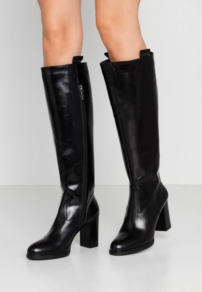 PERLATO - Vysoká obuv - jamaika noir