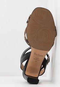 PERLATO - High heeled sandals - cognac/sienna noir - 6