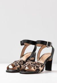 PERLATO - High heeled sandals - cognac/sienna noir - 4