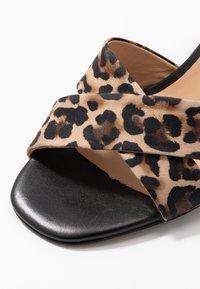 PERLATO - High heeled sandals - cognac/sienna noir - 2