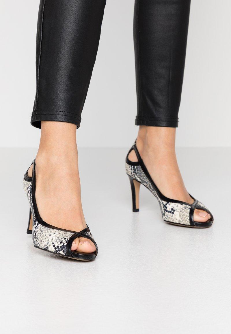 PERLATO - Peep-toes - grigio/jamaica noir