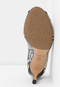 PERLATO - Peep-toes - grigio/jamaica noir - 6