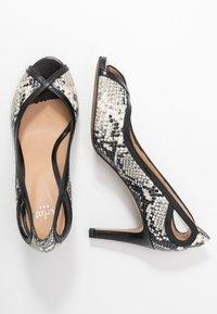PERLATO - Peep-toes - grigio/jamaica noir - 3