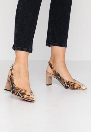 Classic heels - camel/jamaica/castoro