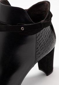 PERLATO - High heeled ankle boots - noir - 2