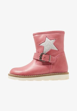 Classic ankle boots - fuxia