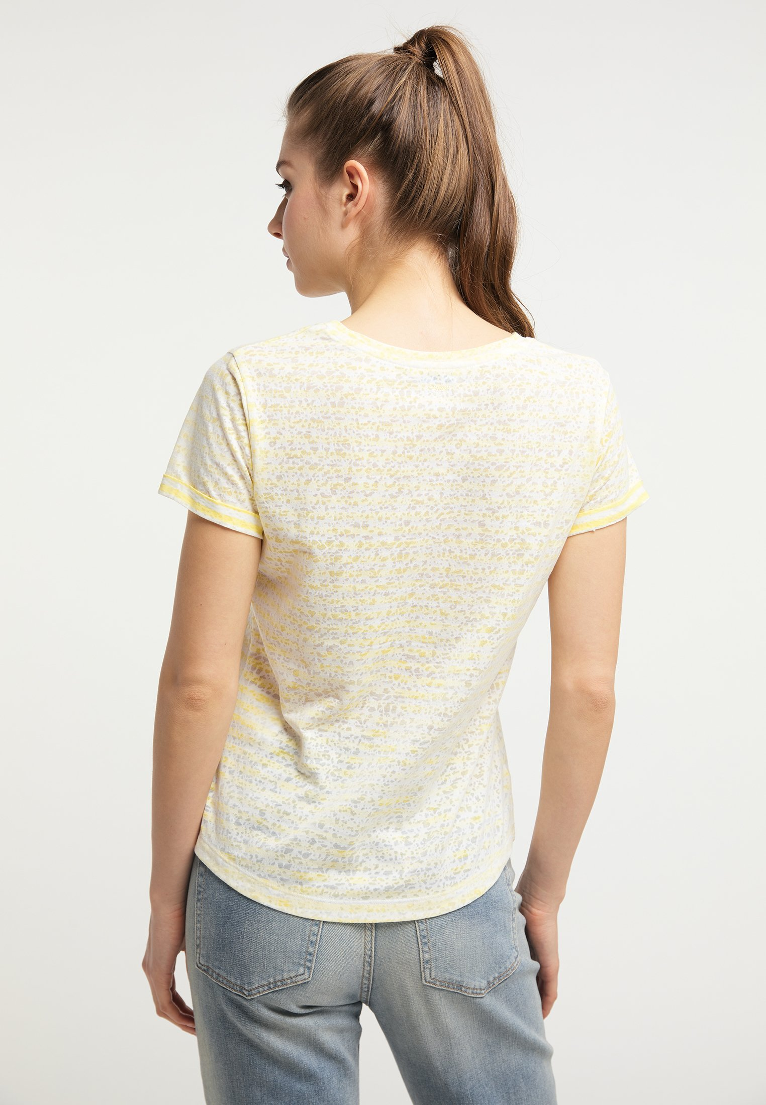 Petrol Industries T-shirt z nadrukiem - mellow yellow
