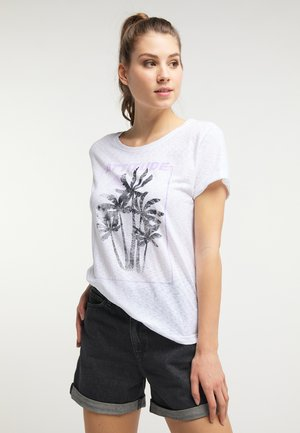T-shirt con stampa - whisper white