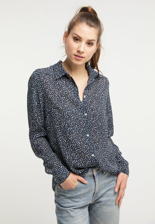 Button-down blouse - deep navy