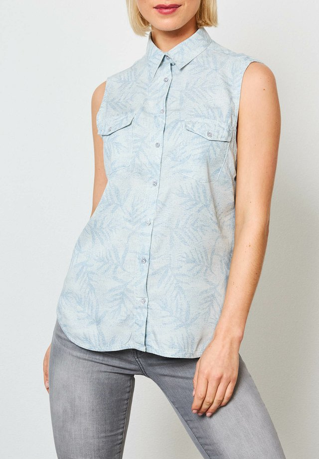 Button-down blouse - faded stone