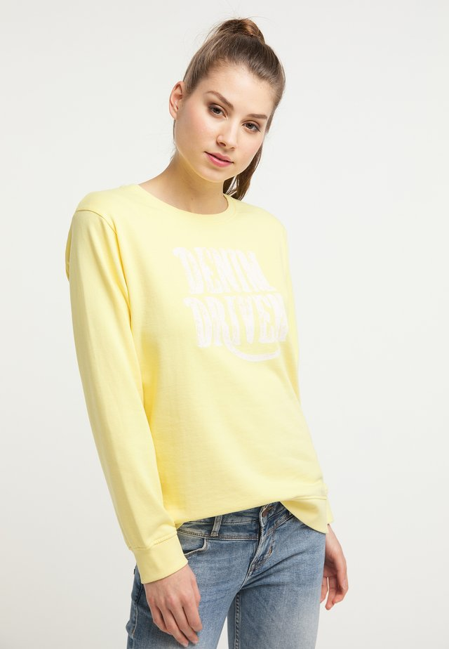 PETROL INDUSTRIES SWEATSHIRT - Bluza - mellow yellow