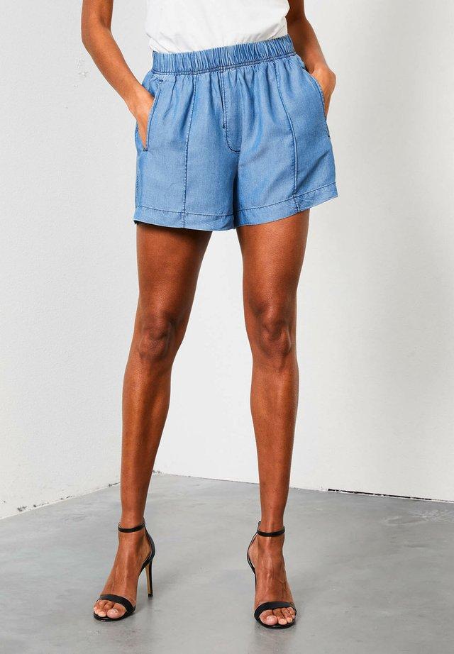 Denim shorts - faded stone