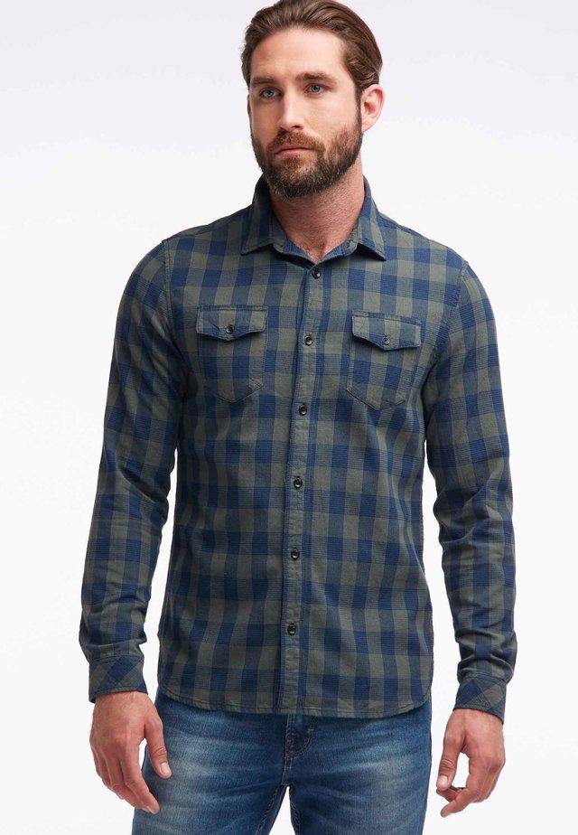 Shirt - olive/blue