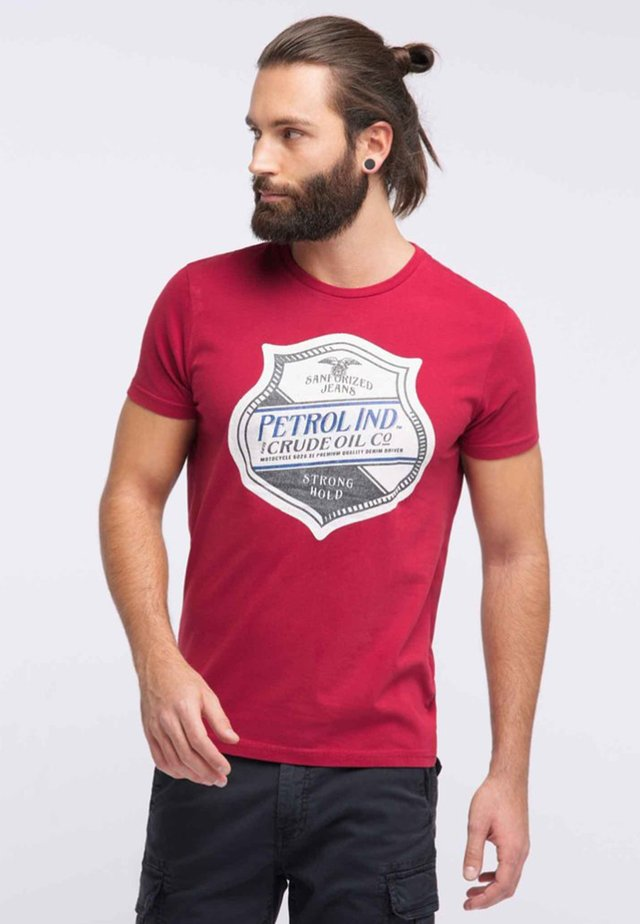 T-shirt con stampa - fire red