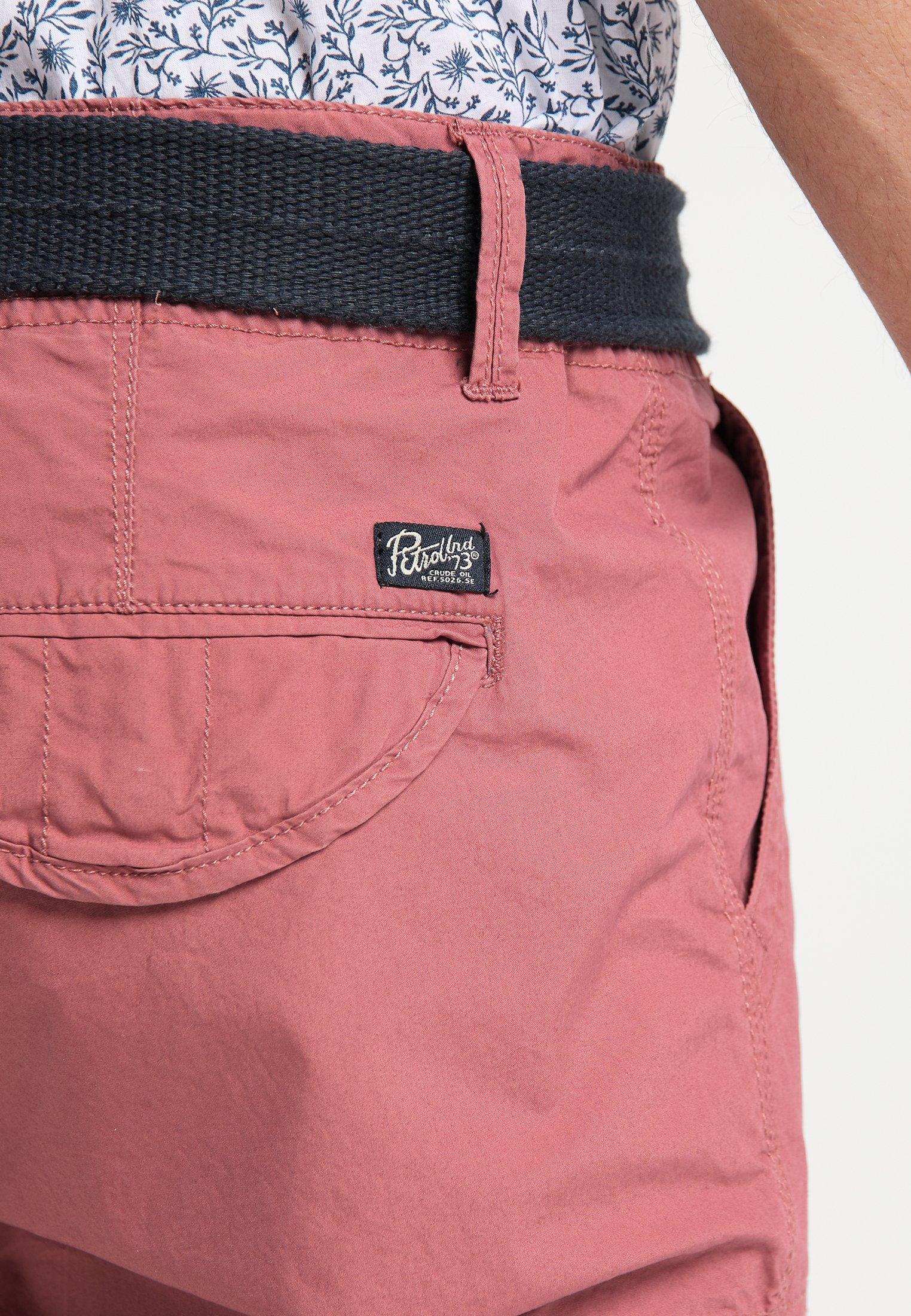 Petrol Industries Shortsit - Light Maroon