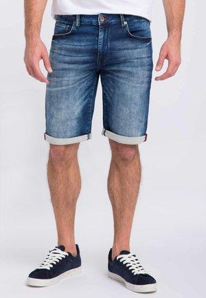 Denim shorts - deepblue