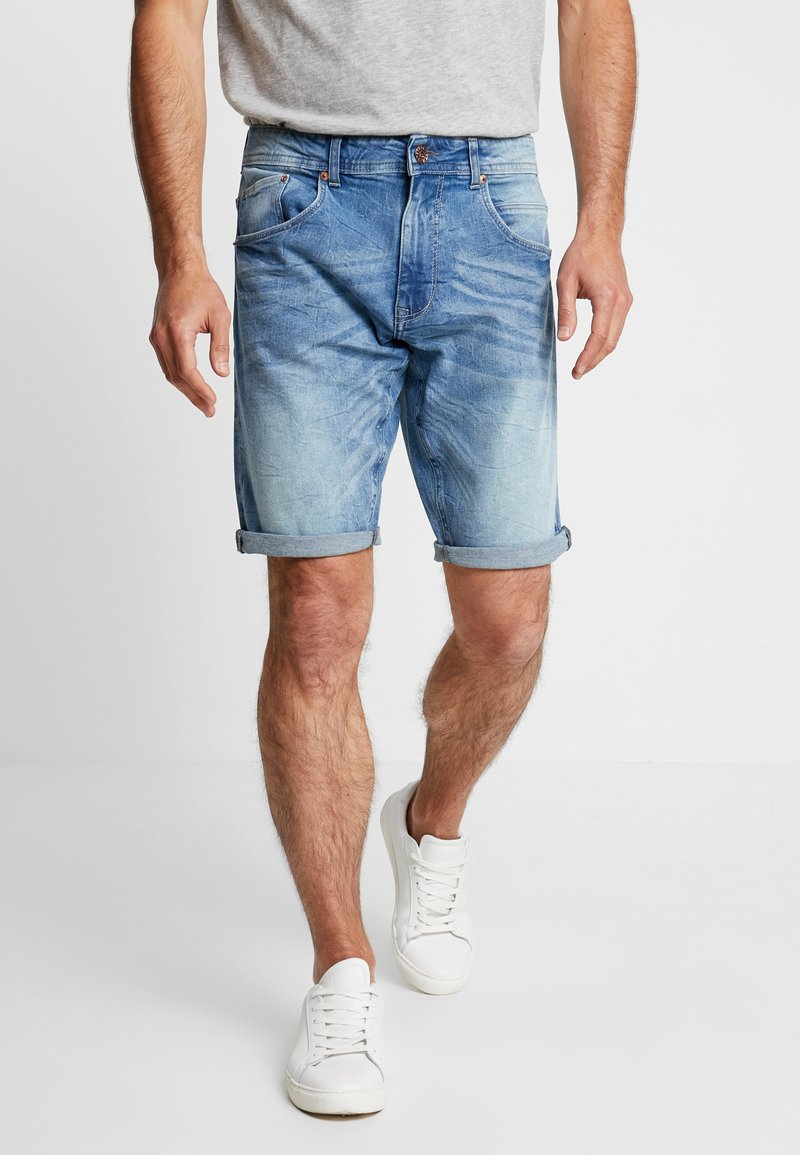 Petrol Industries - Jeans Shorts - medium blue