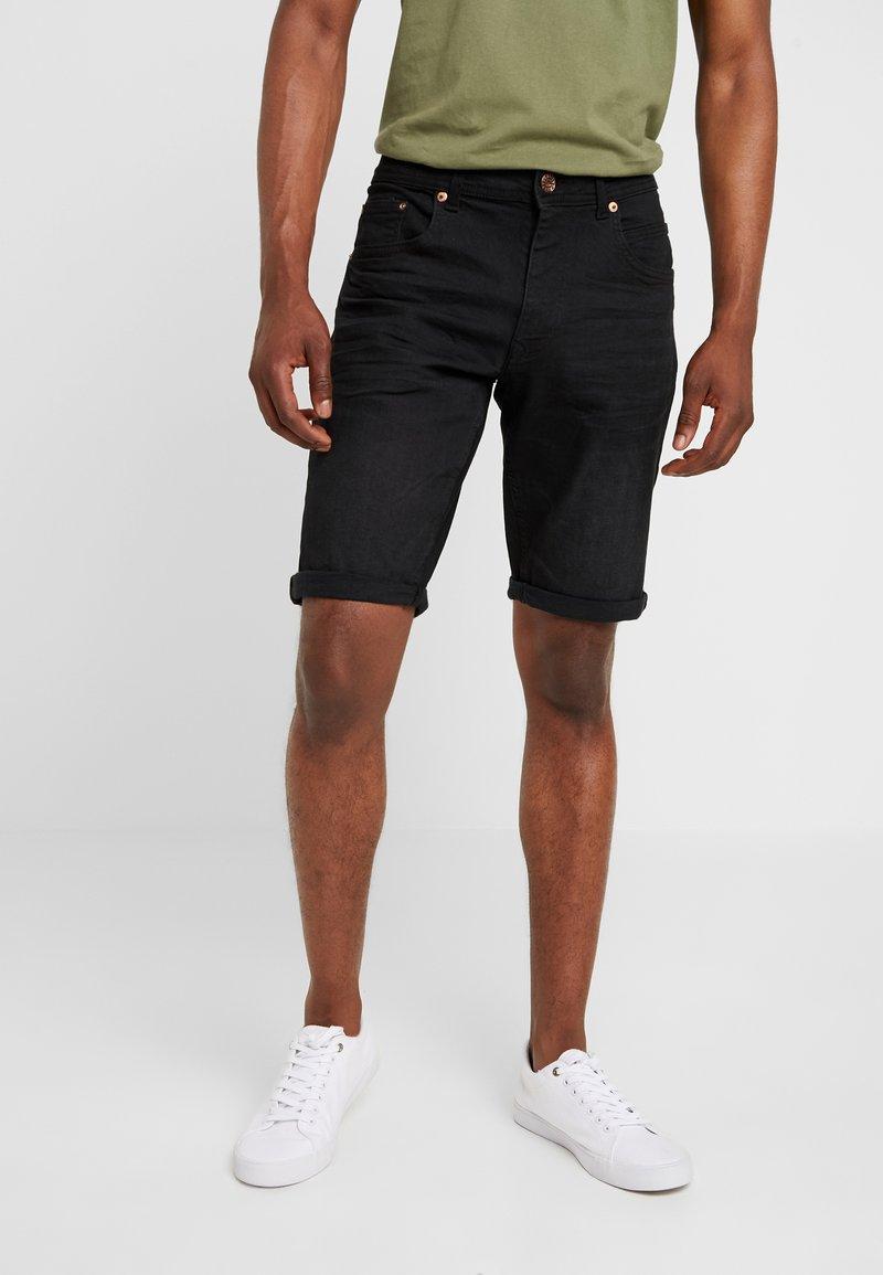 Petrol Industries - Shorts vaqueros - black