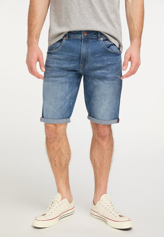 Jeansshort - medium blue