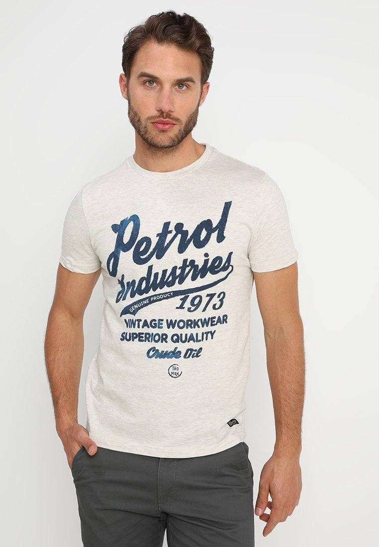 Petrol Industries - T-shirt med print - antique white melee