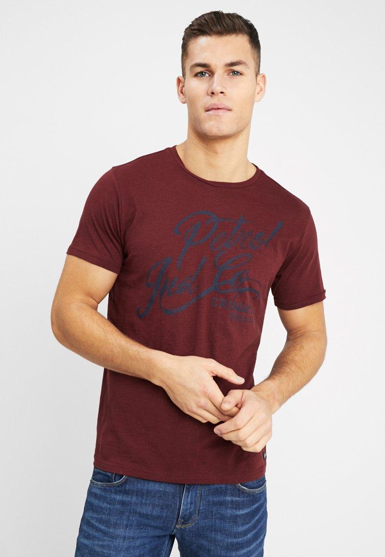 Petrol Industries - OPTION - T-shirt print - burgundy